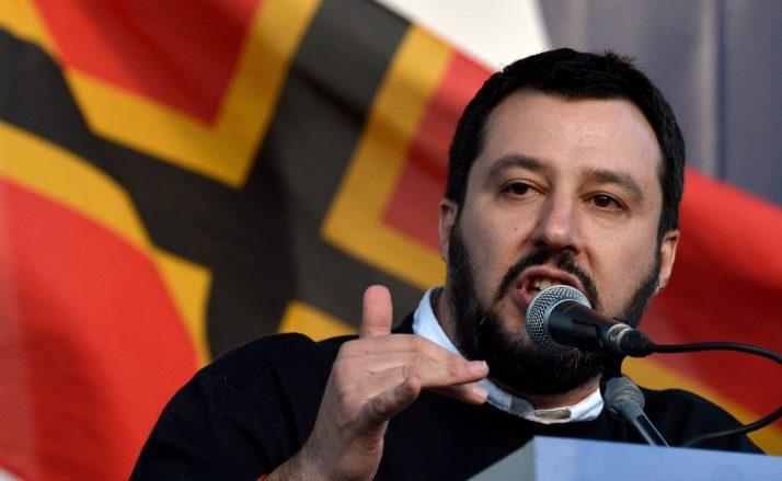 O ministro do Interior da Itália, Matteo Salvini, disse que a fraude envolveu mais de 5 milhões de euros, cerca de R$ 22 milhões. Foto: Tiziana Fabi/AFP via Getty Images