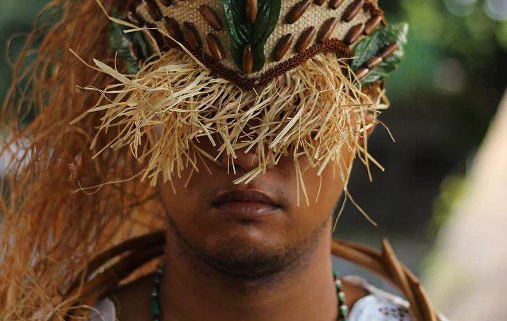 Afoxé Obá Iroko, do bairro de Água Fria, na Zona Norte do Recife. Foto: Samuel Calado/DP