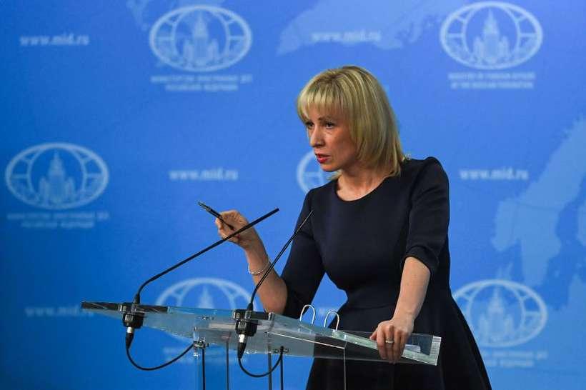 """A porta-voz russa, Maria Zakharova: """"A Rússia não infringiu nada, nem os acordos internacionais, nem o Direito venezuelano"""". Foto: YURI KADOBNOV/AFP"""