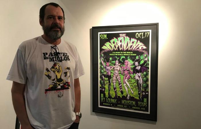 Paulo André Moraes, curador da exposição. Foto: Patricia Rodrigues/Divulgação