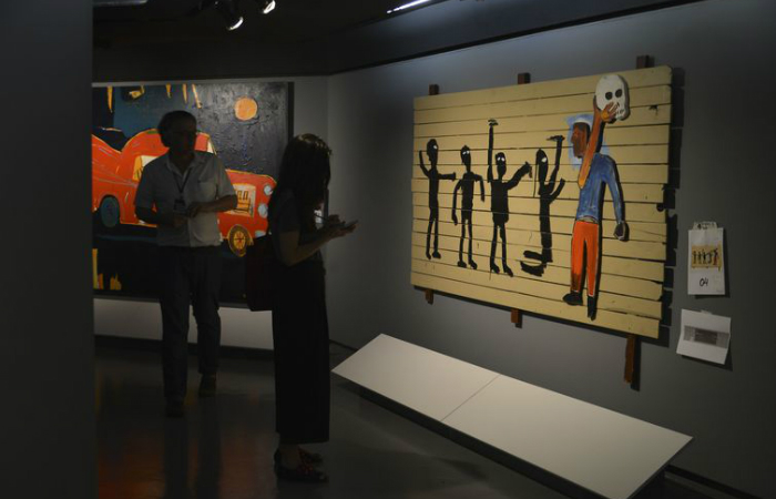 A exposição Jean-Michel Basquiat no CCBB-SP - Rovena Rosa/Agência Brasil