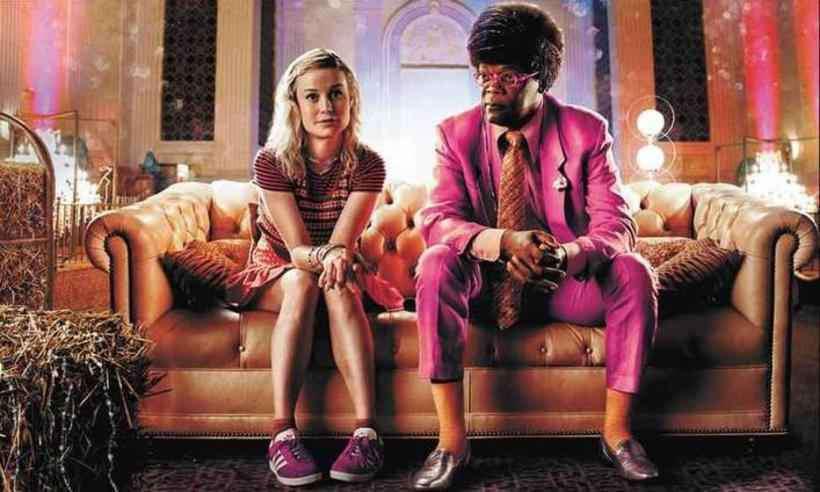 Brie Larson e Samuel L. Jackson em Loja de unicórnios, longa agora disponível na Netflix. Foto: Netflix/Divulgação
