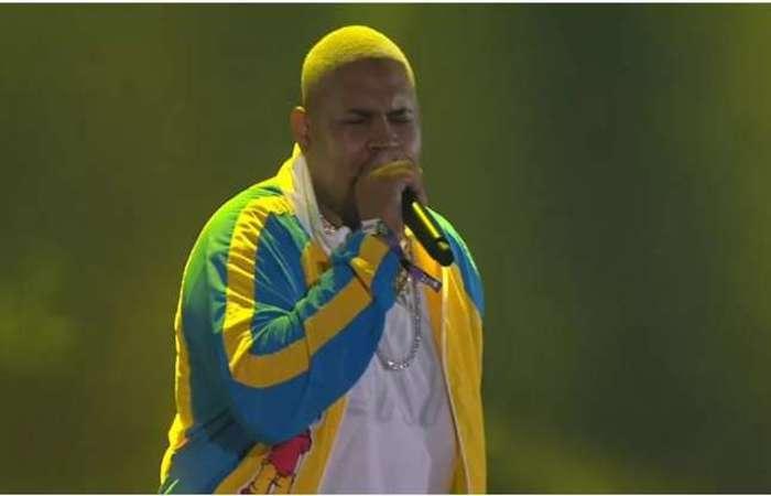 Funkeiro foi convidado especial do rapper americano. Foto: Reprodução/Twitter