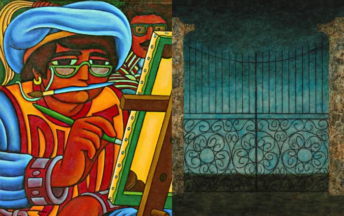 Portões sombrios de Lula Cardoso Ayres e Tela de Virgolino em que Ranulpho aparece assistindo no fundo