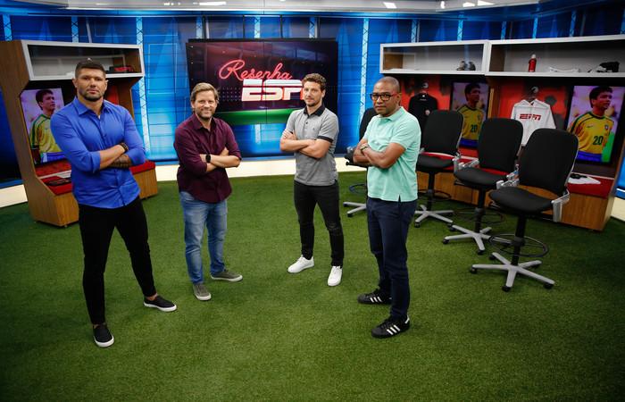 Fabio Luciano, André Plihal, Elano e César Sampaio. Foto: Divulgação