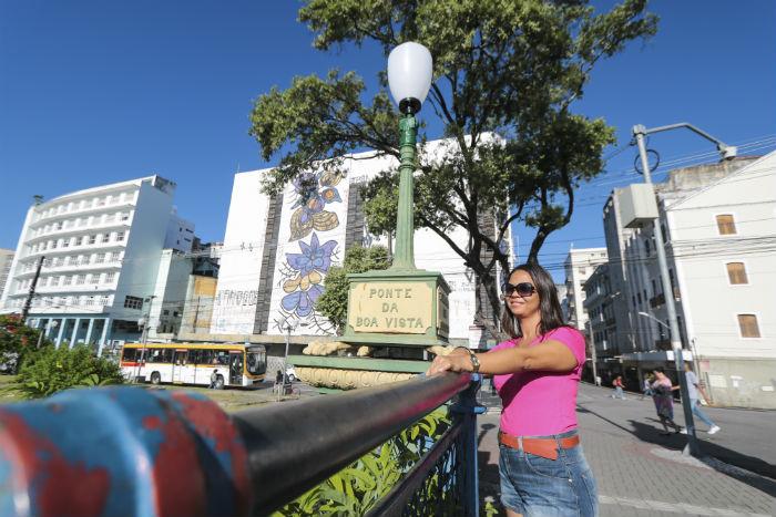 Rosilene Nascimento, de Natal (RN), encantou-se com a paisagem. Foto: Tarciso Augusto / Esp. DP Foto