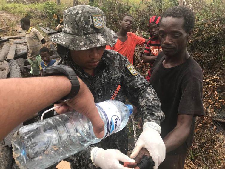 Desde o dia 1º de abril, 20 bombeiros da Força Nacional integram a missão humanitária do Brasil. Foto: Divulgação Ministério da Justiça e Segurança Pública