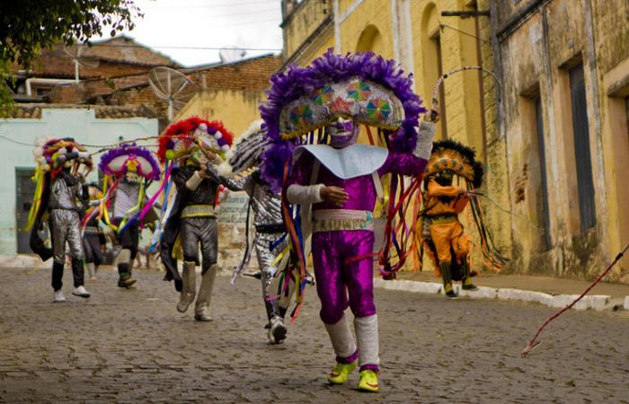 Mais de mil caretas fazem a alegria durante as festividades carnavalescas. Foto: Ricardo Moura/ Divulgação Fundarpe