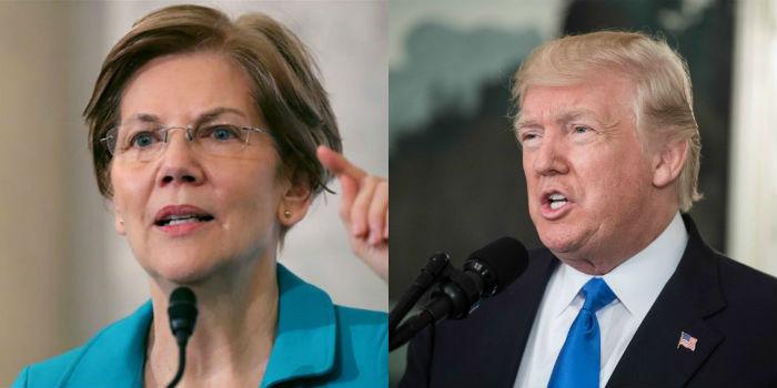 Senadora democrata Elizabeth Warren pediu que congressistas iniciem processo de impeachment de Trump. Fotos: AFP.
