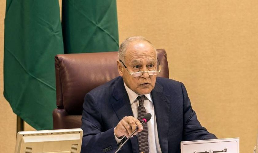 Ahmed Aboul Gheit, secretário-geral da Liga Árabe - Foto:  Khaled Desouki/AFP