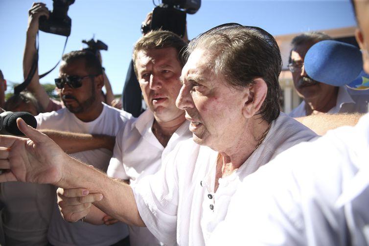 João de Deus promovia curas em Abadiânia. Ele é acusado de ter abusado sexualmente de dezenas de frequentadoras de um centro espírita. Foto: Marcelo Camargo/Agência Brasil