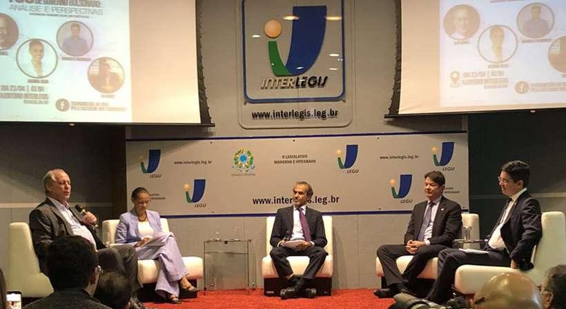 Ex-candidatos à Presidência debateram sobre os 100 primeiros dias de governo Bolsonaro em evento promovido, nesta terça-feira (23/4), no Interlegis. Foto: Bernado Bittar/CB/D.A Press
