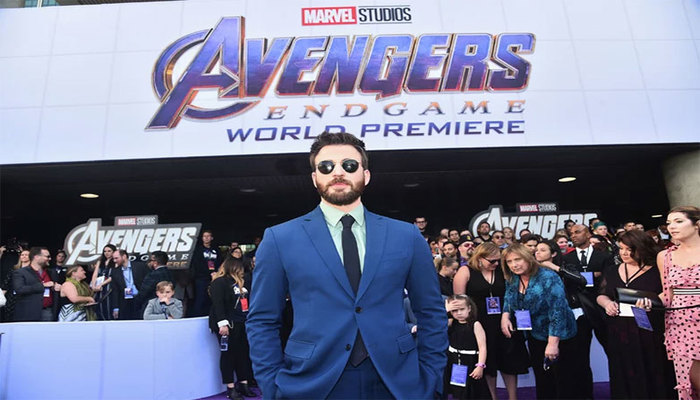 Chris Evans na premiere de 'Vinagdores: Ultimato', em Los Angeles. Foto: AFP Photo
