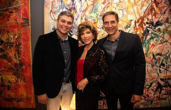 Joel Datena, Poppovic e Luis Ernesto Lacombe. Foto: Arquivo pessoal