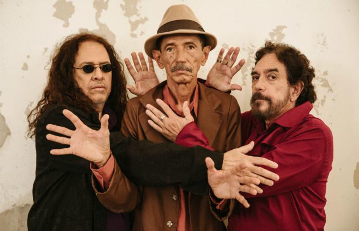 Paulo Rafael, Almir de Oliveira e Marco Polo, 45 após o lançamento do lendário álbum de 1974. Foto: Flora Nigro/Divulgação