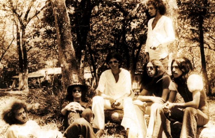 Formação original do Ave Sangria nos anos 1974. Foto: Almir de Oliveira/Cortesia