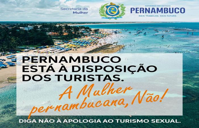 Campanha divulgada pelo Governo de Pernambuco contra o Turismo Sexual no estado - Foto: Facebook/Reprodução