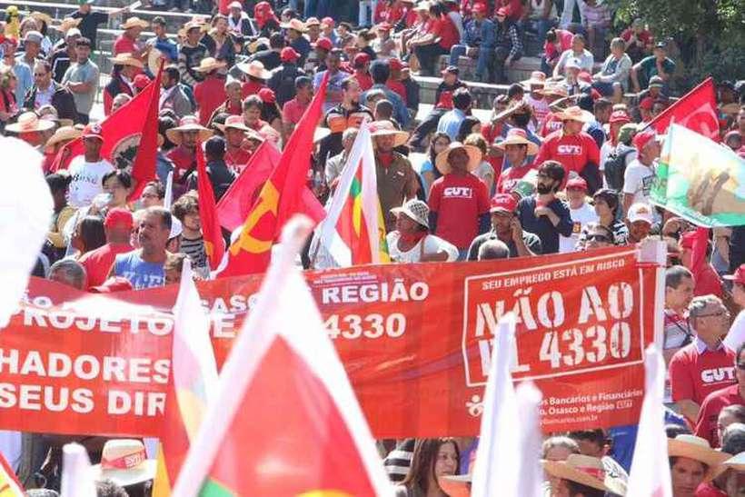 Centrais sindicais fazem atos em São Paulo no Dia do Trabalho em 2015. Foto: Roberto Parizotti/Cut - 1/5/2015