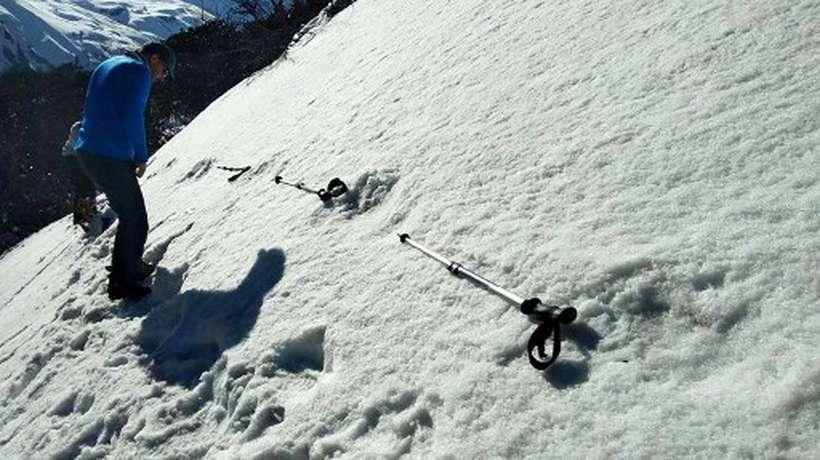 Supostas pegadas do Abominável homem das neves. Foto: Indian Army/AFP