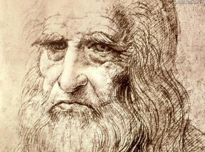 Autorretrato do pintor renascentista Leonardo Da Vinci. Foto: Biblioteca Reale