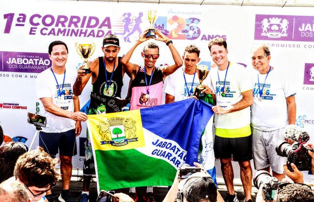 Comemoração dos 426 anos de Jaboatão teve mais de 2 mil corredores. Foto: Prefeitura de Jaboatão / Divulgação