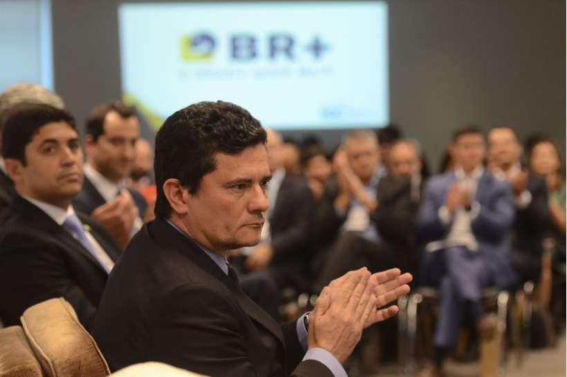 Sérgio Moro tenta manter o Coaf na sua pasta, mas parlamentares querem a volta do órgão à Economia. Foto: Rovena Rosa/Agência Brasil