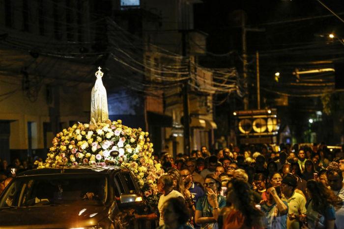 """""""Nossa Senhora de Fátima, mãe da casa comum"""" é o tema da festa. Foto: Paulo Paiva/DP."""