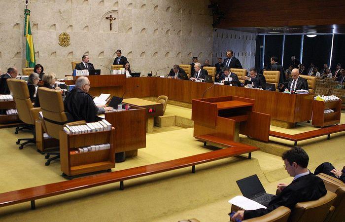 (Plenário do STF decidiu, por 6x5, que deputados estaduais podem revogar prisões de colegas parlamentares (Foto: Nelson Júnior/Comunicação STF)  )