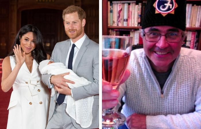 Danny Baker comparou o bebê com um chipanzé - Fotos: Reprodução