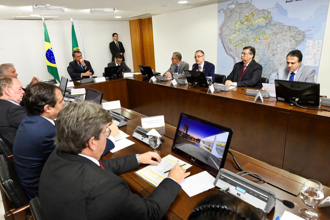Os governadores apresentaram uma carta focando na educação e obras federais no Nordeste. Foto:Daniel Cardoso