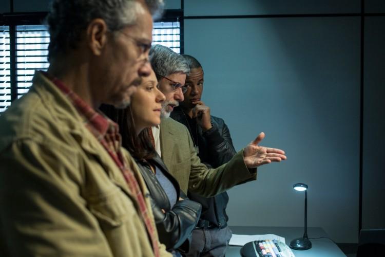 Guilhome, Verena, Roberval e Vander: o núcleo da PF. Foto: Karima Shehata/Netflix