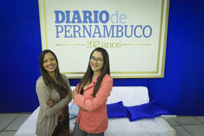Alice de Souza e Anamaria Nascimento representam o jornal na final do Prêmio Urbana de Jornalismo. Foto: Marina Curcio/Esp.DP.