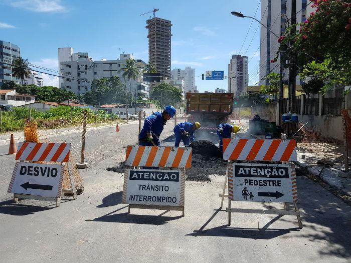 Interdição vai durar quatro dias. Foto: Compesa/Divulgação.