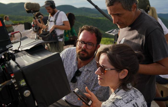 Diretores e produtora Emilie Lesclaux. Foto: Victor Jucá/Divulgação