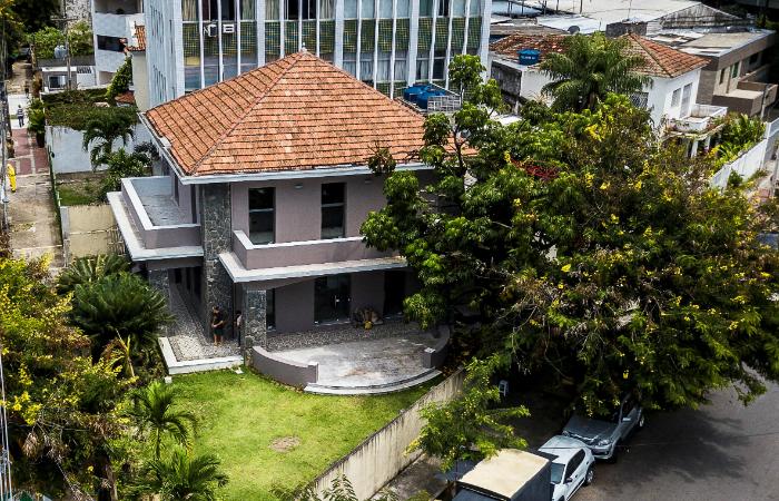 Casa do Derby é formada por Galeria Quadrado, Qubo Escola, Qubo Loja e Café Cartum. Foto: Társio Alves/Divulgação