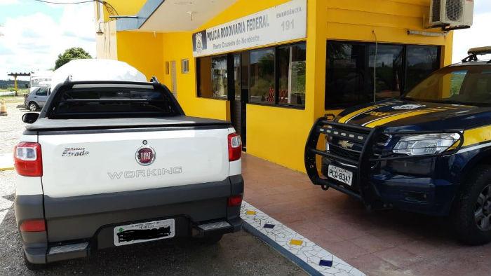 Veículo havia sido roubado no início do ano. Foto: PRF / Divulgação