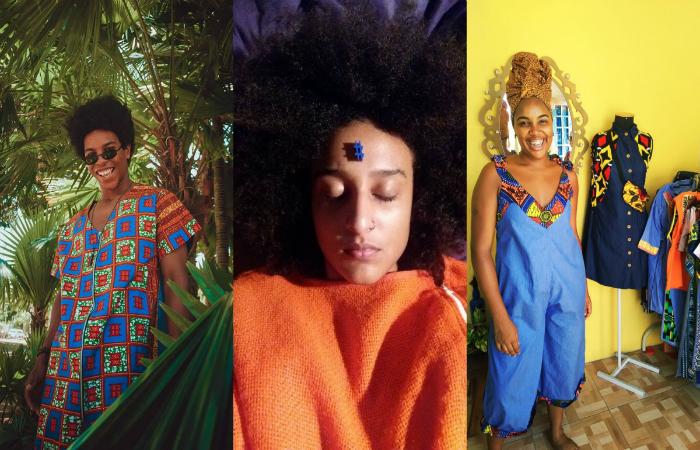 Modelo exibe estética afrofuturista na moda, Beatriz Rodrigues e Zanira. Foto: Divulgação