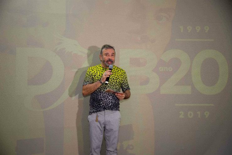 Claudio Silveira, idealizador do evento, agradeceu o apoio de autoridades públicas ao Dragão Fashion. Foto: Davi Magalhães/DFB