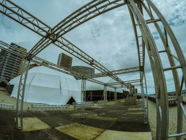 A nova estrutura foi montada no Aterro da Praia de Iracema. Foto: DFB/Divulgação