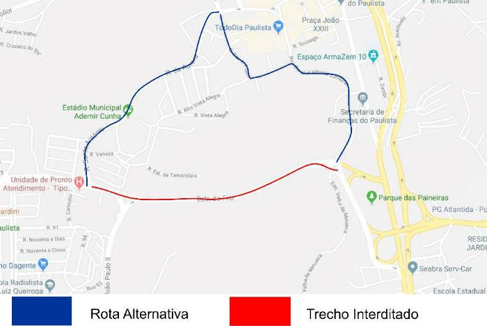 De 7h às 17h, a pista ficará bloqueada no trecho entre a rotatória em frente à UPA e o girador. Foto: Prefeitura de Paulista. Divulgação