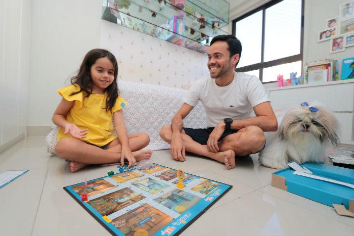 André participa das atividades com a filha Laura. Foto: Tarciso Augusto/Esp. DP.
