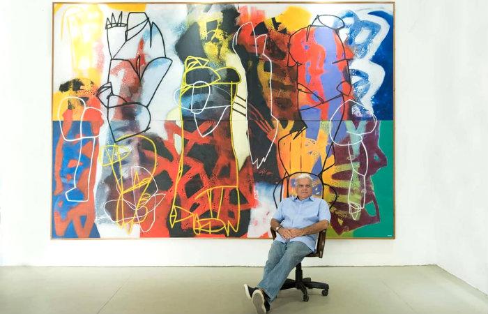 Trinta telas compõem a mostra, em cartaz até 30 de junho, no espaço onde o artista expõe e desenvolve as obras. Foto: Divulgação