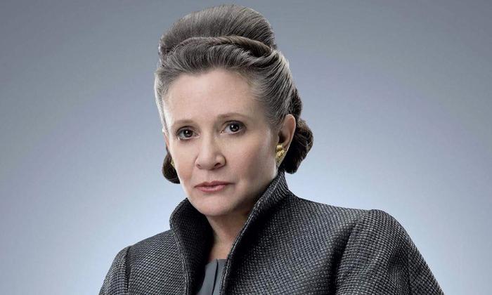 A morte de Carrie Fischer, a princesa Leia, em 2016, ainda é sentida pelos produtores do filme. Foto: Divulgação