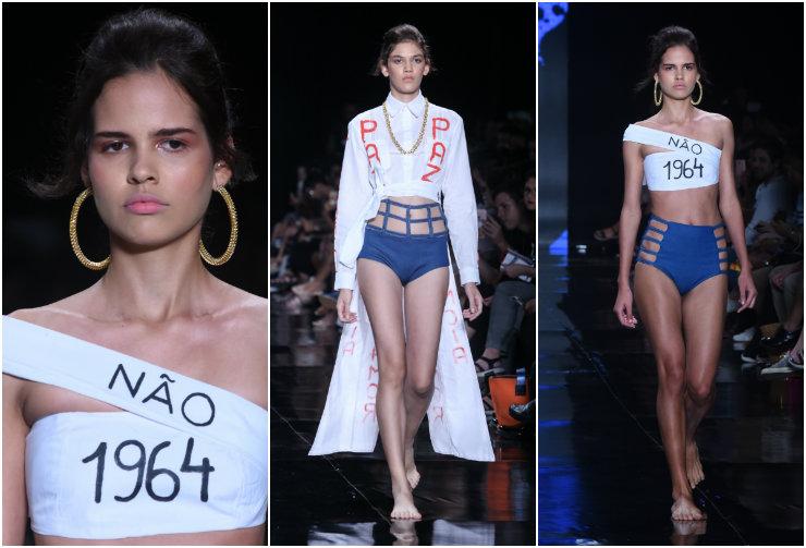 A moda como ferramenta política também ganhou espaço no festival e recebeu aplausos contundentes. Fotos: Roberta Braga e Chico Gomes/Divulgação