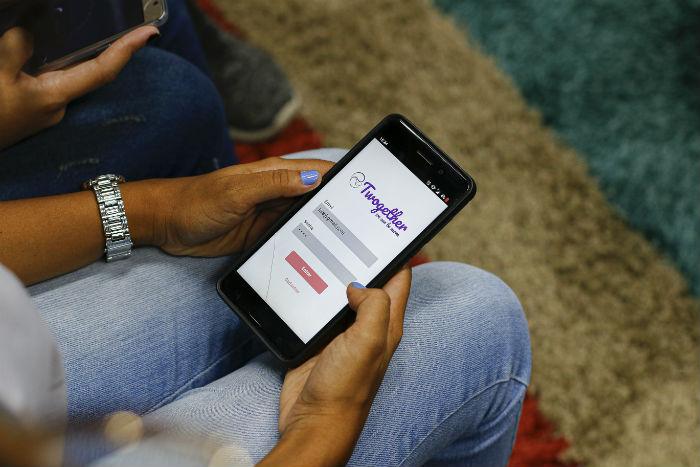 O aplicativo conecta mães e pais durante a fase de gestação de seus filhos. Foto: Marlon Diego/Divulgação.
