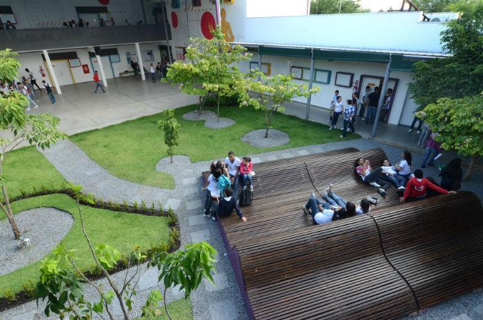 A Escola Técnica Estadual Cícero Dias ficou com o segundo lugar na categoria Regional. Foto: Alyne Pinheiro/Divulgação.