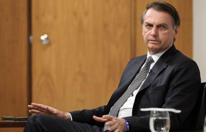 Presidente Jair Bolsonaro durante entrevista para o Jornal La Nacion. Foto: Marcos Corrêa/PR