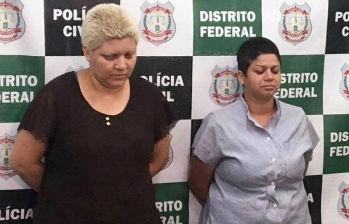 Rosana (esquerda) e Kacyla Pryscila, suspeitas de matar e esquartejar menino de 9 anos no DF. Foto: Polícia Civil do Distrito Federal/Divulgação