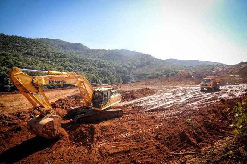 Dados da Agência Nacional de Mineração mostram que ontem o deslocamento do talude da mina superou em 9 centímetros o de sábado, e com maior velocidade. Uma placa de 600 metros descolou-se na sexta-feira. Foto: Leandro Couri/Refinaria