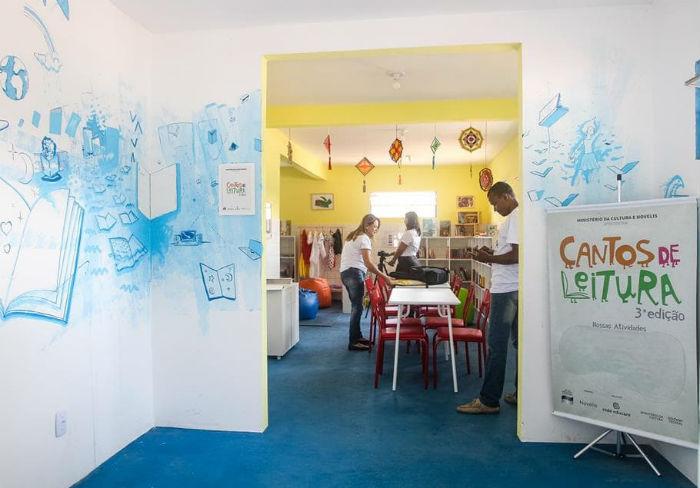 O espaço vai abrigar um acervo de livros, brinquedoteca e materiais pedagógicos. Foto: Milena Palladino